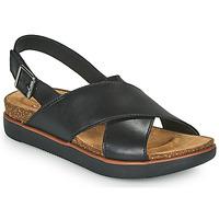 Chaussures Femme Sandales et Nu-pieds Clarks ELAYNE CROSS Noir