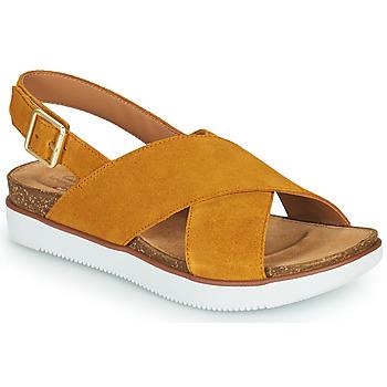 Chaussures Femme Sandales et Nu-pieds Clarks ELAYNE CROSS Moutarde