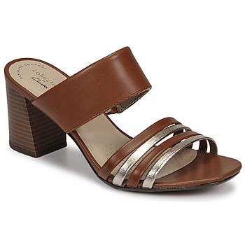 Chaussures Femme Mules Clarks JOCELYNNE ANDI Marron / Argent