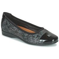 Chaussures Femme Ballerines / babies Clarks UN DARCEY CAP2 Noir