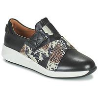 Chaussures Femme Baskets basses Clarks UN RIO STRAP Noir