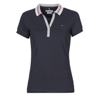 Vêtements Femme Polos manches courtes Tommy Hilfiger SLIM TIPPING POLO SS Marine