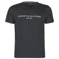 Vêtements Homme T-shirts manches courtes Tommy Hilfiger CORE TOMMY LOGO Noir