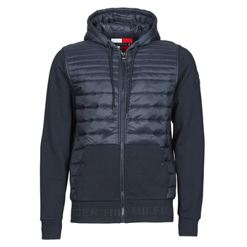 Vêtements Homme Doudounes Tommy Hilfiger JACQUARD MIXED MEDIA ZIP HOODY Bleu
