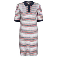 Vêtements Femme Robes courtes Tommy Hilfiger TH CUBE SHIFT SHORT DRESS SS Blanc / Rouge / Marine