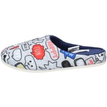 Chaussures Garçon Chaussons De Fonseca TORINO I K650 GRIS