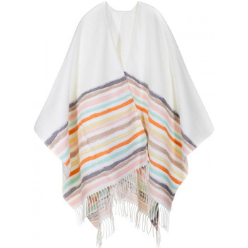Vêtements Femme Gilets / Cardigans Qualicoq Poncho Regala Blanc