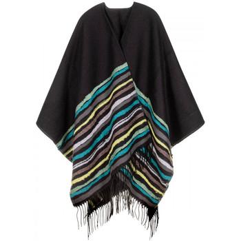 Vêtements Femme Gilets / Cardigans Qualicoq Poncho Regala Noir