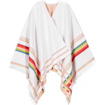 Vêtements Femme Gilets / Cardigans Qualicoq Poncho Egéa Blanc