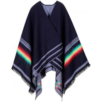 Vêtements Femme Gilets / Cardigans Qualicoq Poncho Egéa Bleu-Marine