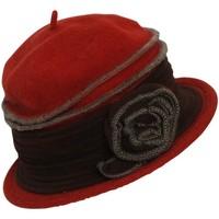 Accessoires textile Femme Chapeaux Chapeau-Tendance Chapeau cloche en laine FAUSTINE Rouge