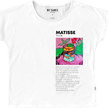 T-shirt enfant Ko Samui Tailors | T-shirt Art Fauve, blanc | KSU_TE C37 FAUVE WHT