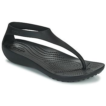 Chaussures Femme Tongs Crocs CROCS SERENA FLIP W Noir