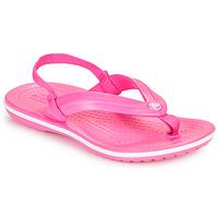 Chaussures Fille Tongs Crocs CROCBAND STRAP FLIP K Rose