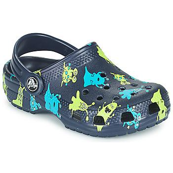 Chaussures Garçon Sabots Crocs CLASSIC MONSTER PRINT CLOG T Bleu