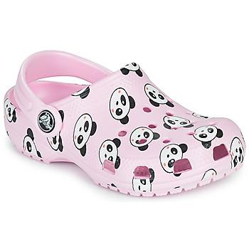 Chaussures Fille Sabots Crocs CLASSIC PANDA PRINT CLOG K Rose / Panda