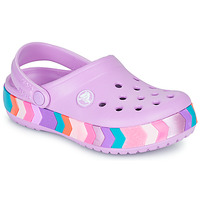 Chaussures Fille Sabots Crocs CROCBAND CHEVRON BEADED CLOG K Violet / Multicolore