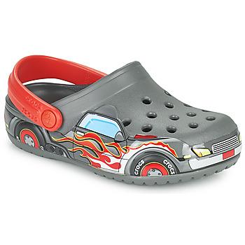 Chaussures Garçon Sabots Crocs FLTRUCKBANDCLOG K Gris /rouge