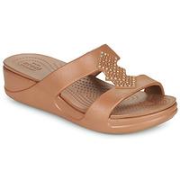 Chaussures Femme Mules Crocs CROCSMONTEREYSHIMMERSLPONWDG W Bronze