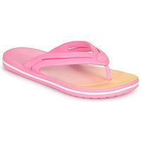 Chaussures Femme Tongs Crocs CROCBAND OMBRE FLIP W Rose
