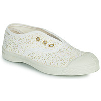 Chaussures Fille Baskets basses Bensimon SHINNY Blanc / Doré