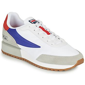 Chaussures Homme Baskets basses Fila RETRONIQUE Blanc / Bleu / Rouge