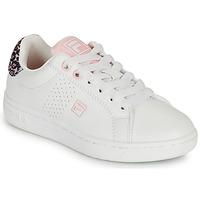 Chaussures Fille Baskets basses Fila CROSSCOURT 2 NT KIDS Blanc / Rose