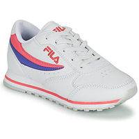 Chaussures Fille Baskets basses Fila ORBIT LOW KIDS Blanc / Rose