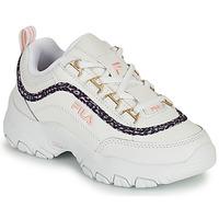 Chaussures Fille Baskets basses Fila STRADA A LOW JR Blanc / Beige