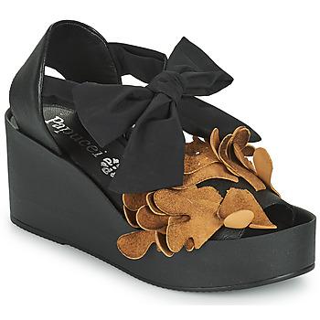 Chaussures Femme Sandales et Nu-pieds Papucei MAYA Noir / Marron