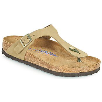 Chaussures Femme Tongs Birkenstock GIZEH SFB Marron