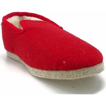 Chaussures Femme Chaussons Maison De Lespadrille F100F ROUGE
