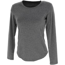 Vêtements Femme T-shirts manches longues Rukka Myran anc ml tee run l Gris anthracite chiné