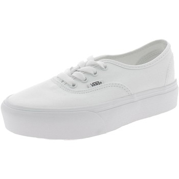 Chaussures Fille Tennis Vans AUTHENTIC PLATFOR PLATFORM BIANCHE Blanc