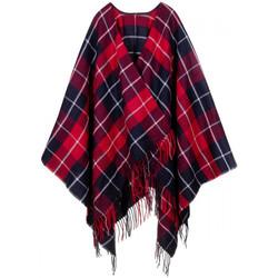Vêtements Femme Gilets / Cardigans Qualicoq Poncho Highlands rouge