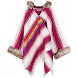 Vêtements Femme Gilets / Cardigans Qualicoq Poncho Liska Fuchsia