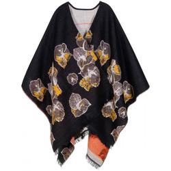 Vêtements Femme Gilets / Cardigans Qualicoq Poncho Abysse Noir