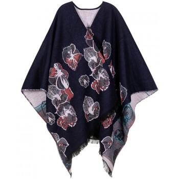 Vêtements Femme Gilets / Cardigans Qualicoq Poncho Abysse Bleu-Marine