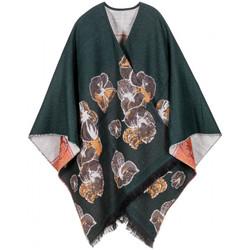 Vêtements Femme Gilets / Cardigans Qualicoq Poncho Abysse Vert anglais