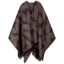 Vêtements Femme Gilets / Cardigans Qualicoq Poncho Hoja marron