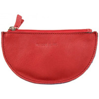 Sacs Femme Porte-monnaie Patrick Blanc Porte monnaie demi rond plat  cuir Rouge / Bleu Multicolor