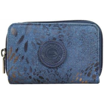 Sacs Femme Porte-monnaie Patrick Blanc Porte monnaie + cartes  toile bleu déco dorée bleu