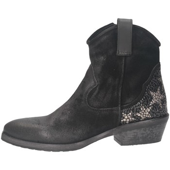 Chaussures Femme Bottines Metisse TEX28 Texano Femme NOIR NOIR