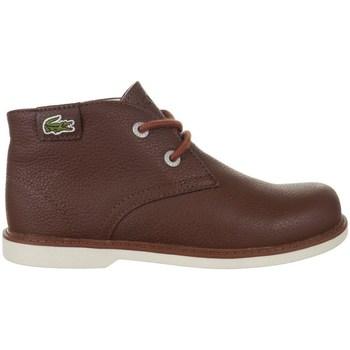 Chaussures Enfant Boots Lacoste Sherbrook HI SB Spc Marron