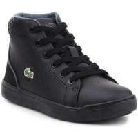 Chaussures Enfant Baskets montantes Lacoste Explorateur Lace 317 1 Cac Noir