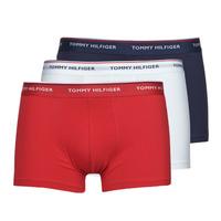 Sous-vêtements Homme Boxers Tommy Hilfiger TRUNK X3 Blanc / Rouge / Marine