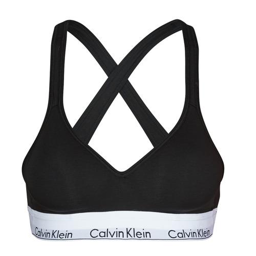 Sous-vêtements Femme Brassières Calvin Klein Jeans MODERN COTTON BRALETTE LIFT Noir