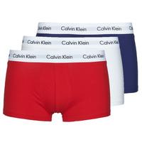 Sous-vêtements Homme Boxers Calvin Klein Jeans RISE TRUNK X3 Marine / Blanc / Rouge