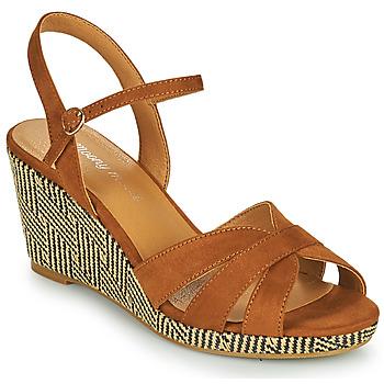 Chaussures Femme Sandales et Nu-pieds Moony Mood MALIA Camel