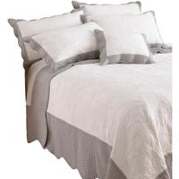 Maison & Déco Parures de lit Riva Home 265 x 265 cm Blanc/Gris